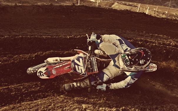 Фото обои гонка, мотокросс, экстремальный спорт, пилот