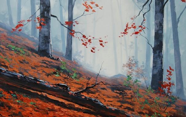 Фото обои АРТ, РИСУНОК, ARTSAUS, FOREST FLOOR