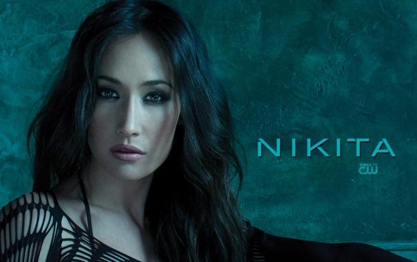 Фото обои лицо, обои, Nikita, Maggie Q