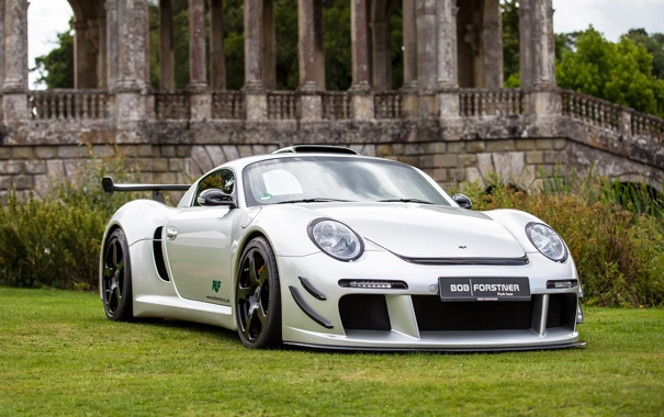 Фото обои RUF, CTR 3, Grass, Porsche, Front, White