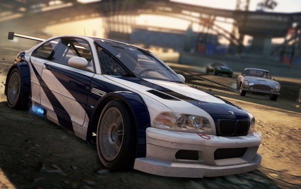 Фото обои game, 2012, race, Most Wanted, Need for speed, BMW M3 GTR, Aston Martin DB5