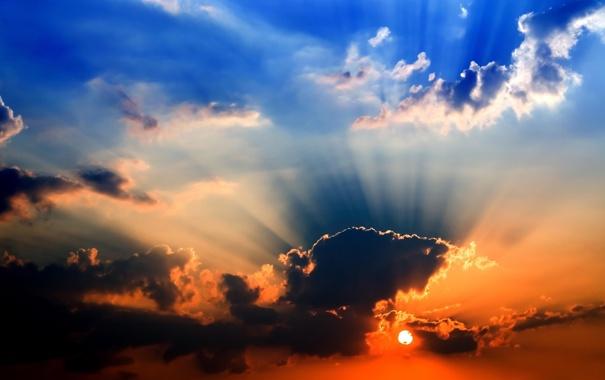 Фото обои небо, пейзаж, закат, Обои, картинка