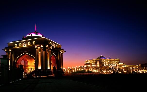 Фото обои Город, сздания, ночь, City, огни