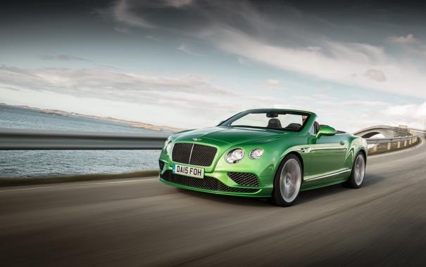 Фото обои зеленый, Bentley, Continental, кабриолет, Speed, бентли, континенталь