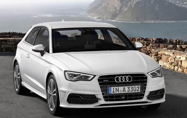 Фото обои car, машина, ауди, audi, обоя, white, автомобиль
