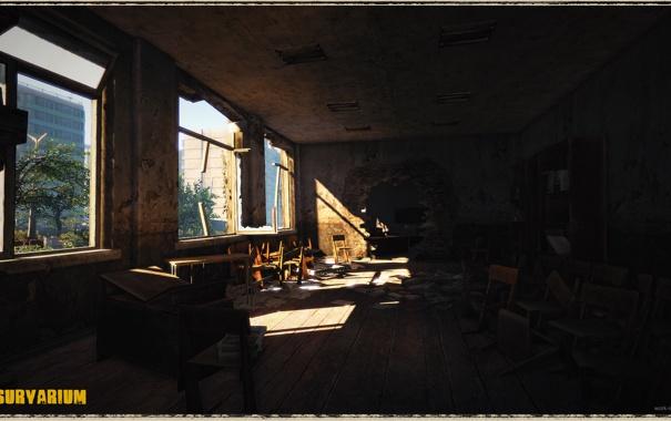 Фото обои стулья, столы, школа, Survarium