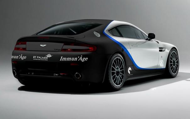 Фото обои Aston Martin, black, Фары