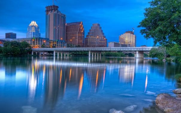 Фото обои Остин, twilight, Austin, usa, Texas, Техас