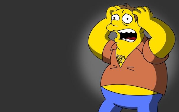 Фото обои scream, fear, The Simpsons, Barney Gumble