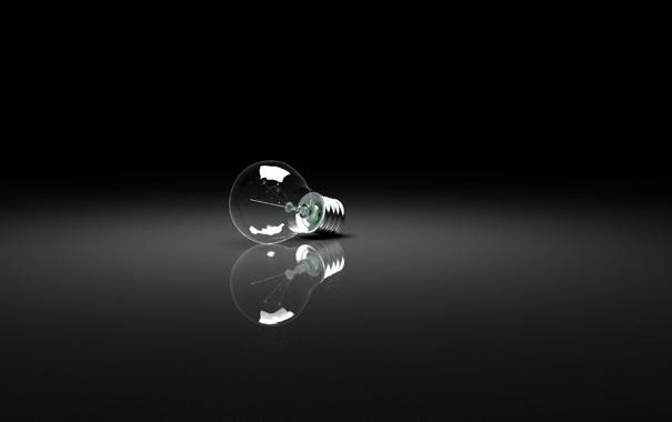 Фото обои лампочка, фон, лапмочка ленина
