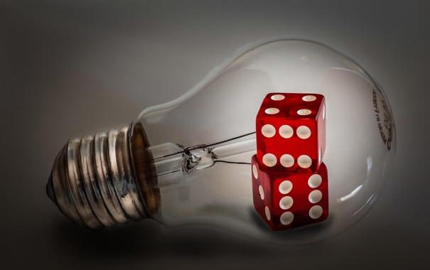 Фото обои макро, кубики, лампа