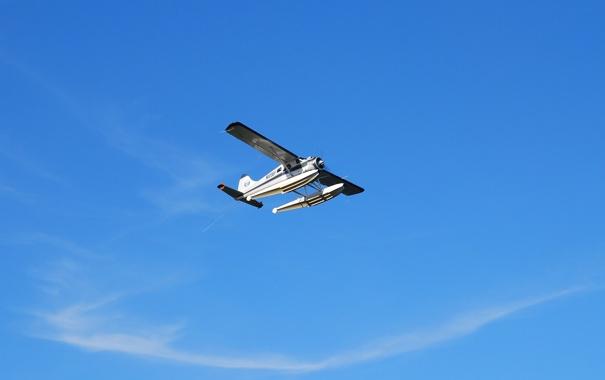 Фото обои небо, самолёт, многоцелевой, одномоторный, лёгкий, DHC-2 Beaver