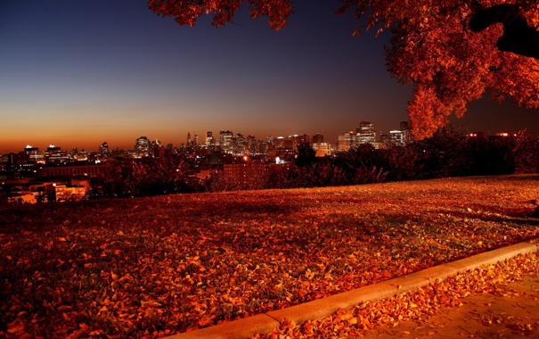 Фото обои осень, пейзаж, природа, фото, вечер