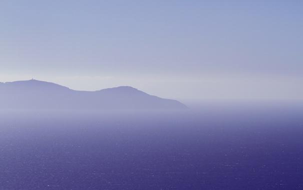 Фото обои гора, небо, море