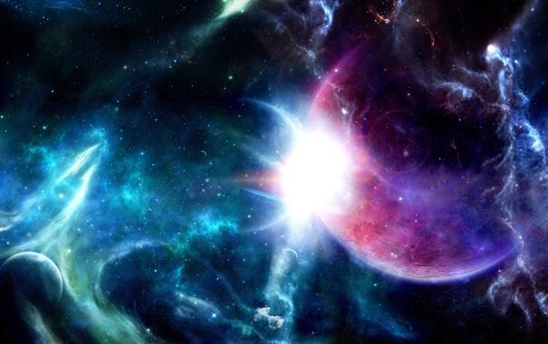 Фото обои звезды, свет, планеты