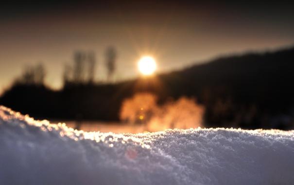 Фото обои зима, солнце, снег, утро, сугроб, холодно, испарение