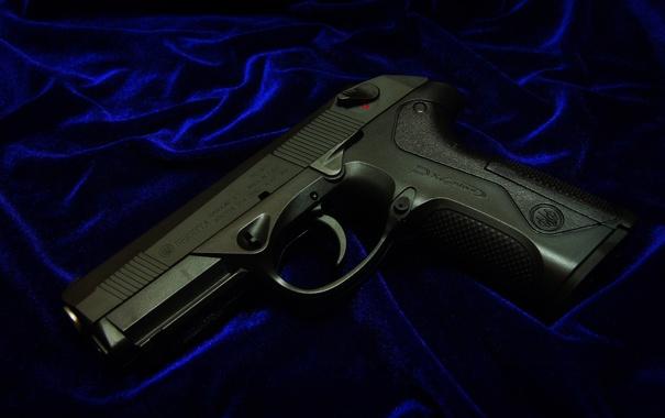 Фото обои пистолет, ткань, Beretta, самозарядный