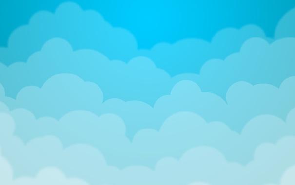 Фото обои облака, blue, голубые
