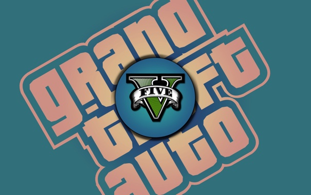 Фото обои логотип, logo, gta, гта, Grand Theft Auto 5