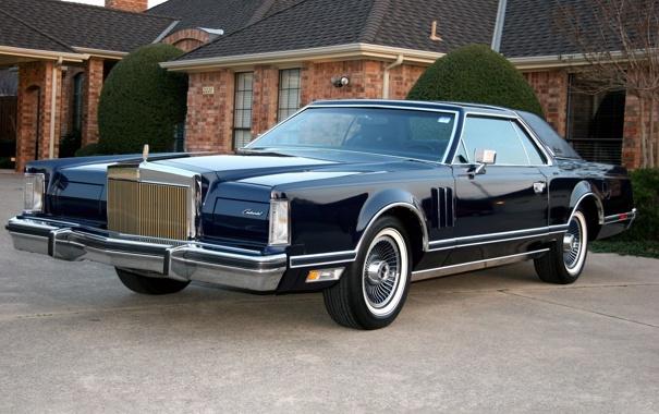 Фото обои Lincoln, дом, америка, 1977, Continental Mark V