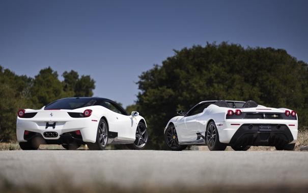 Фото обои Ferrari, white, Scuderia, Italia, 430, F458, 16M