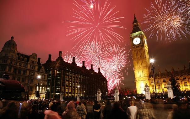 Фото обои city, люди, города, Лондон, Рождество, Новый год, new year