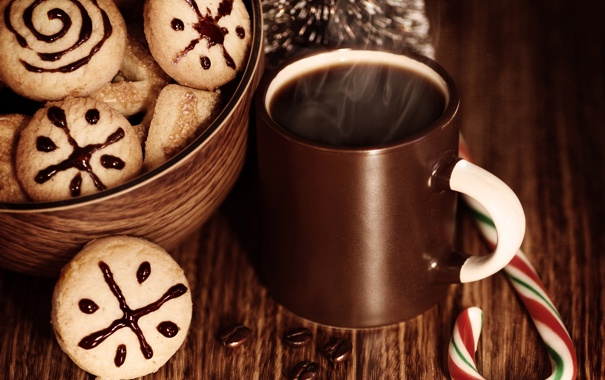 Фото обои праздник, Рождество, Новый год, Christmas, New Year, sweets, cookies