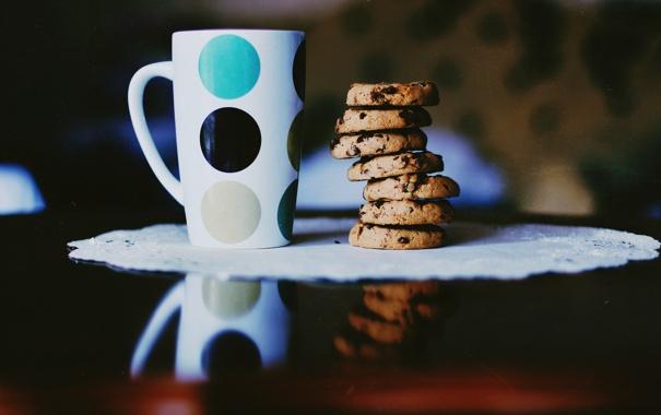 Фото обои печенье, кружка, чашка