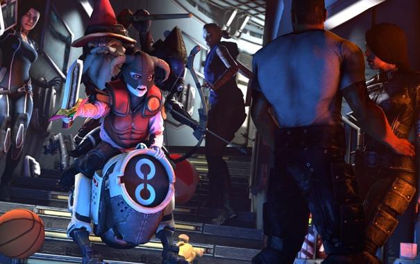 Фото обои Miranda Lawson, Mass Effect, Jack, Robotic Dog, KEI-9, dog-mech
