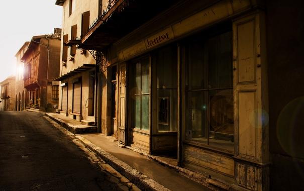 Фото обои улица, город, дома