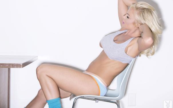 Фото обои модель, волосы, трусики, блондинка, Christi Shake