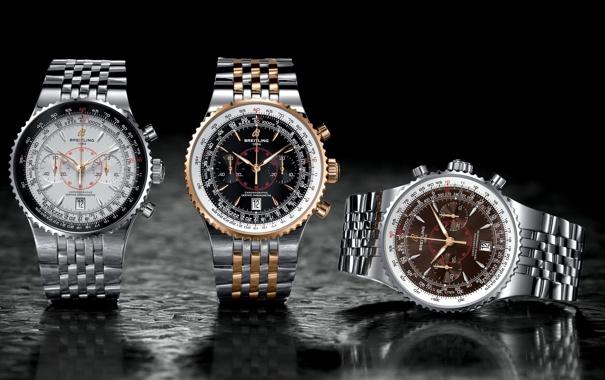 Фото обои Часы, Watch, Breitling, trio, montbrillant legende2