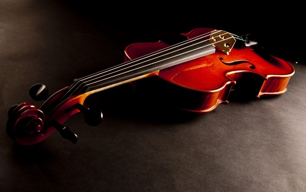 Фото обои red, wood, violin, stringed instrument