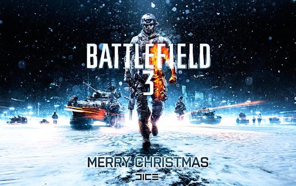 Фото обои новый год, battlefield, christmas, батлфилд