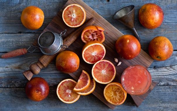 Фото обои апельсины, сок, bloody oranges