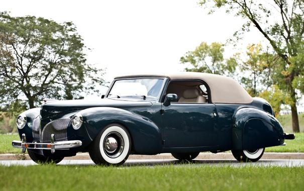 Фото обои Lincoln, ретро, купе, Continental, Coupe, передок, континенталь