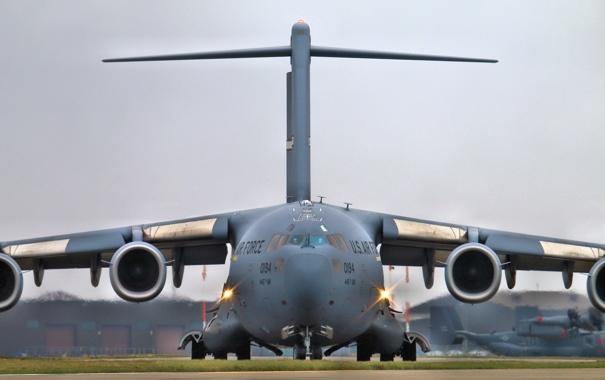 Фото обои самолёт, стратегический, военно-транспортный, C-17, McDonnell Douglas, Globemaster III