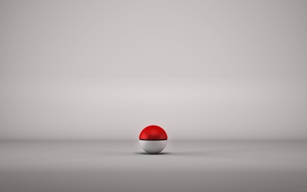 Фото обои серый, мячик, Ball, крсный