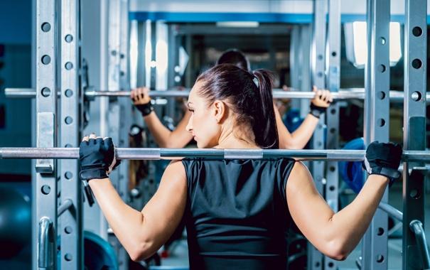 Фото обои brunette, workout, fitness, gym