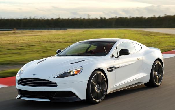 Фото обои машина, Aston Martin, скорость, трасса, Vanquish
