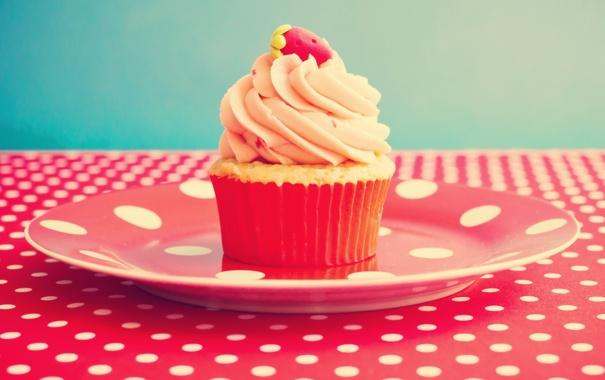 Фото обои стол, пирожное, vintage, десерт, винтаж, cupcake, кекс