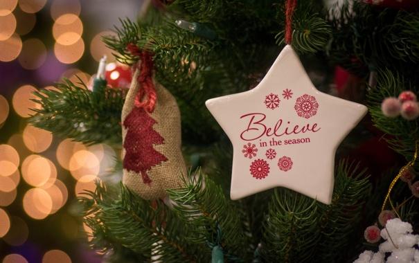 Фото обои Новый Год, праздник, Christmas, New Year, Рождество