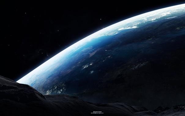 Фото обои звезды, поверхность, планета, атмосфера