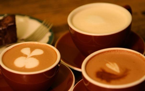 Фото обои кофе, чашка, вилка, coffee