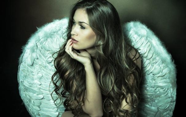 Фото обои sexy, wings, feathers, angel