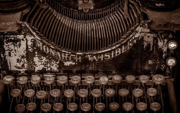 Фото обои macro, Typewriter, Monarch