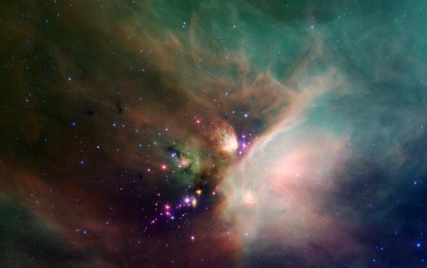 Фото обои небо, космос, туманность, газ
