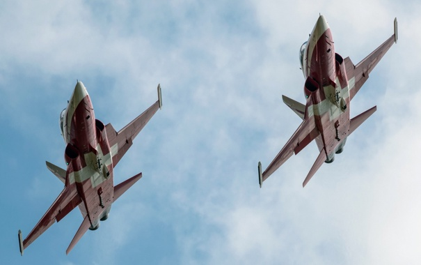 Фото обои небо, оружие, самолёты, F5-E Tiger II