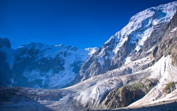 Фото обои зима, горы, красота, заснеженные, Winter mountains