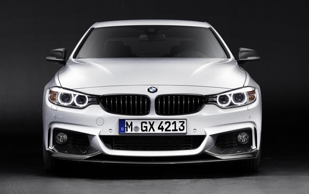 Фото обои BMW, white, front, Performance, 4 Series